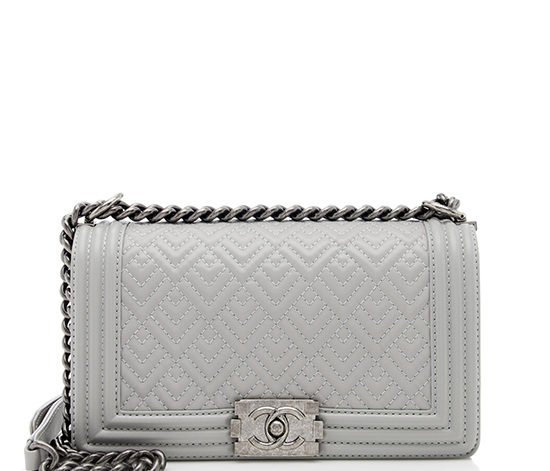 Chanel Calfskin Quilted Medium Boy Bag